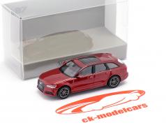 Audi A6 Avant year 2018 red metallic 1:87 Minichamps