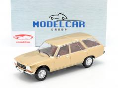 Peugeot 504 Break Bouwjaar 1976 goud 1:18 Model Car Group