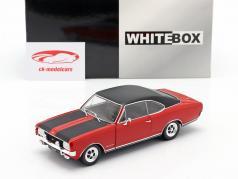 Opel Commodore A GS/E rood / zwart 1:24 WhiteBox