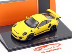 Porsche 911 (991) GT3 RS Bouwjaar 2017 geel 1:43 Ixo