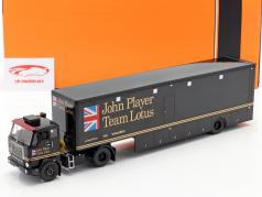 Volvo F88 Renntransporter John Player Team Lotus schwarz 1:43 Ixo