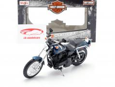 Harley Davidson Dyna Super Glide Sport Baujahr 2004 dunkelblau / schwarz 1:12 Maisto
