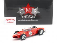 W. Graf Berghe v. Trips Ferrari 156 Sharknose #20 français GP F1 1961 1:18 CMR