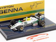 Ayrton Senna Williams Ford FW08C #1 Donington Park Test fórmula 1 1983 1:43 Minichamps