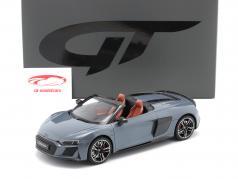 Audi R8 Spyder Année de construction 2019 kemora gris 1:18 GT-Spirit