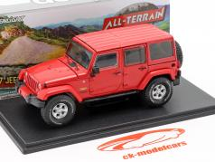 Jeep Wrangler Unlimited Sahara Bouwjaar 2017 rood 1:43 Greenlight