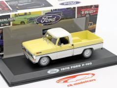 Ford F-100 Pick-Up Byggeår 1970 gul / hvid 1:43 Greenlight