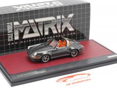 Porsche 911 Targa Singer Design 2014 Grijs metalen 1:43 Matrix