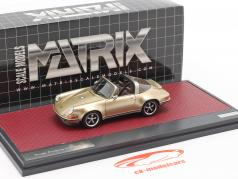 Porsche 911 Targa Singer Design 2014 or métallique 1:43 Matrix