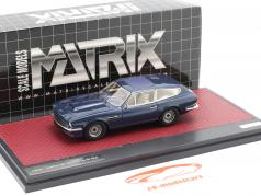 Aston Martin V8 Shooting Brake Bouwjaar 1986 blauw metalen 1:43 Matrix