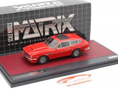 Aston Martin V8 Shooting Brake Année de construction 1986 rouge 1:43 Matrix
