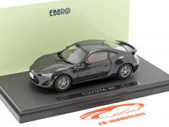 Toyota 86 donkergrijs / donkergrijs 1:43 Ebbro