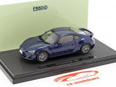 Toyota 86 donkerblauw / donkerblauw 1:43 Ebbro