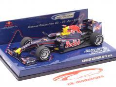 Sebastian Vettel Red Bull Racing Renault RB5 Showcar formula 1 2010 1:43 Minichamps