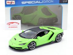 Lamborghini Centenario LP770-4 Año de construcción 2016 verde 1:18 Maisto
