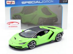Lamborghini Centenario LP770-4 Baujahr 2016 grün 1:18 Maisto
