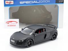 Audi R8 GT mat zwart 1:18 Maisto
