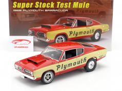 Plymouth Super Stock Test Mule Barracuda 1968 red / yellow 1:18 GMP