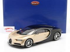 Bugatti Chiron Année de construction 2016 or / noir 1:12 Kyosho