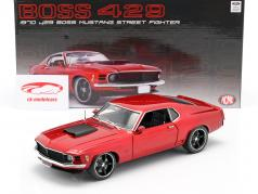 Ford Mustang Boss 429 Street Fighter 1970 rouge 1:18 GMP