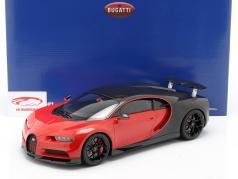 Bugatti Chiron Sport #16 建設年 2019 赤 / 黒 1:12 Kyosho