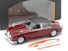Jaguar MK II serie TV Inspector Morse (1987-2000) buio rosso 1:43 Cararama