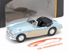 Austin Healey Convertible Open Top licht blauw metalen / room Wit 1:43 Cararama