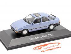Ford Sierra Ghia Ano de construção 1984 leve azul metálico 1:43 Altaya