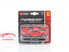 Ferrari F8 Tributo Ano de construção 2019 vermelho 1:43 Bburago