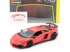 Lamborghini Aventador LP 750-4 SV vermelho 1:24 Bburago