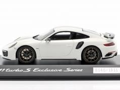 Porsche 911 (991) Turbo S Exclusive Series 白い、 黒 1:43 Spark