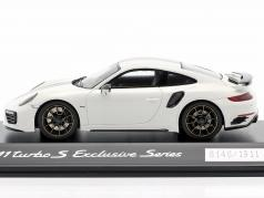 Porsche 911 (991) Turbo S Exclusive Series Blanco, negro 1:43 Spark