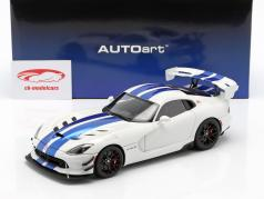 Dodge Viper GTS-R Commemorative Edition ACR 2017 pearl white / blue 1:18 AUTOart
