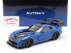 Dodge Viper ACR year 2017 competition blue / black 1:18 AUTOart