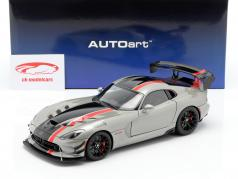 Dodge Viper ACR year 2017 billet silver metallic / black / red 1:18 AUTOart
