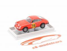 Porsche 911 S 2.0 #219 3e Rallye Monte Carlo 1967 Elford, Stone 1:87 Brekina
