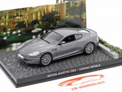 Aston Martin DBS de James Bond Casino Royale Filme carro cinza 1:43 Ixo