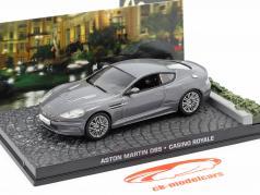Aston Martin DBS di James Bond film Casino Royale grigio auto 1:43 Ixo