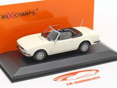 Peugeot 504 Cabriolet year 1977 white 1:43 Minichamps