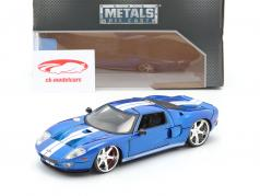 Ford GT 电影 Fast and Furious 7 2015 蓝色 / 白色 1:24 Jada Toys