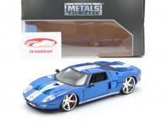Ford GT Película Fast and Furious 7 2015 azul / Blanco 1:24 Jada Toys