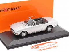 Peugeot 504 Cabriolet year 1977 silver metallic 1:43 Minichamps