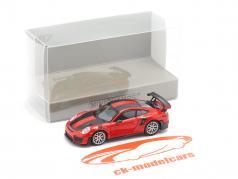 Porsche 911 GT2 RS Baujahr 2018 rot / carbon 1:87 Minichamps