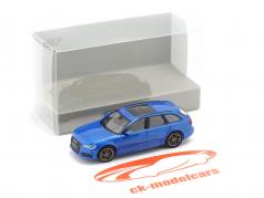 Audi A6 Avant Année de construction 2018 bleu métallique 1:87 Minichamps