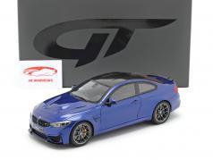 BMW M4 CS (F82) Byggeår 2018 San Marino blå metallisk 1:18 GT-Spirit