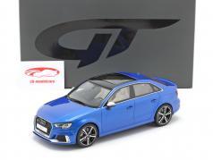 Audi RS3 Sedan 建设年份 2018 ara 蓝色 1:18 GT-Spirit