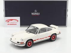 Porsche 911 Carrera 2.7 RS Año de construcción 1973 Blanco / rojo 1:18 Norev