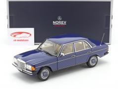 Mercedes-Benz 200 (W123) limusina Año de construcción 1982 azul 1:18 Norev