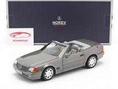 Mercedes-Benz 500 SL (R129) Roadster 建设年份 1989 灰色 金属的 1:18 Norev