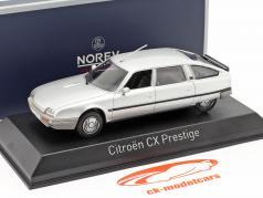 Citroen CX Turbo 2 Prestige Byggeår 1986 sølv metallisk 1:43 Norev